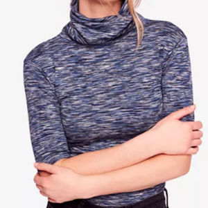 Free People Sunshine Space-Dyed Turtleneck Top